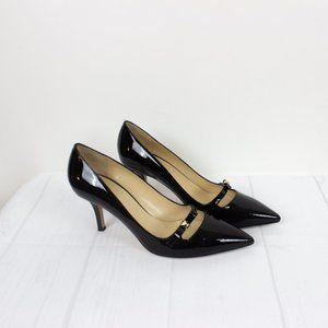 Kate Spade Womens Black Patent Leather Heel Pumps